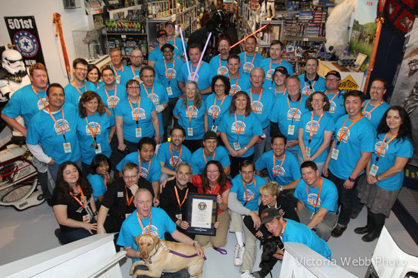 Rancho Obi-Wan Volunteers at World Record Night