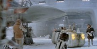 The Rebel Troop Carrier in a scene from The Empire Strikes Back.
