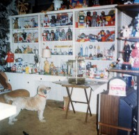 The den had little room left for Star Wars collectibles