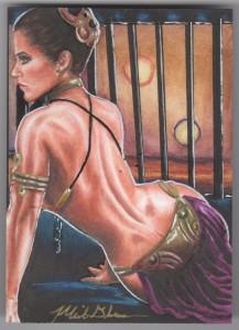 Slave Leia Sketch Card by Mick & Matt Glebe