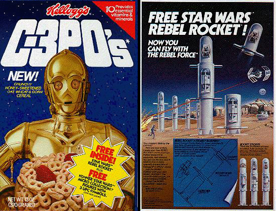 C-3PO's box with Rebel Rocket promotion