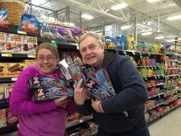 Amy Sjoberg and Earl Bonequest stock up on Little Debbies!